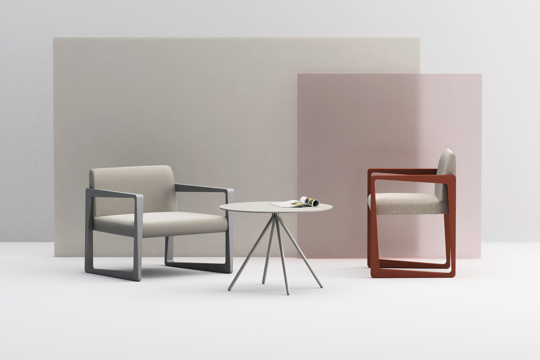 Askew poltroncina e lounge, tavolino Galileo