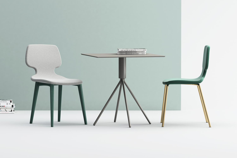 Baby D legno e acciaio, tavolo Galileo