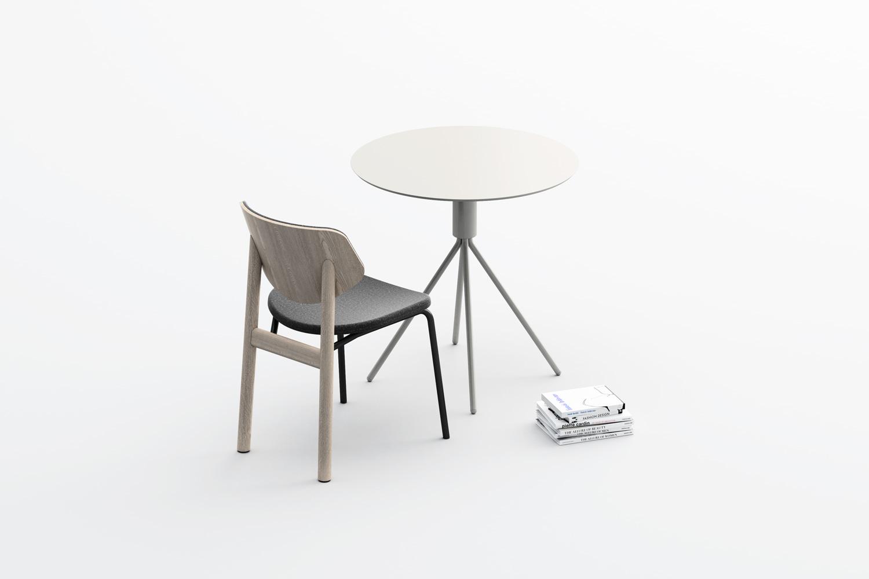Galileo tavolo e Link sedia Design studio Pastina per Copiosa