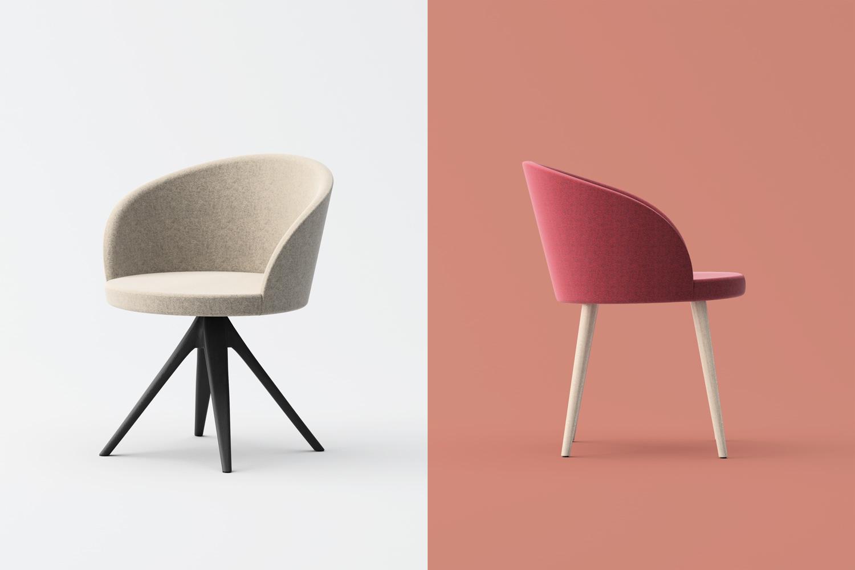 Marilyn Wood swivel and armchair