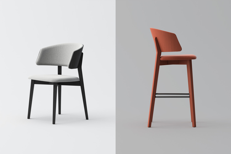 Wrap Wood chair barstoool